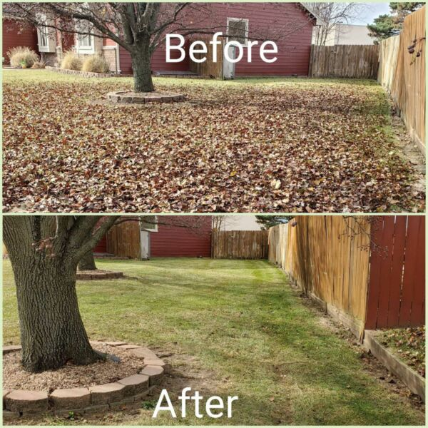 Augusta, KS - We can remove leaves and debris to improve the look fo your yard.